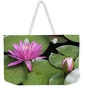 Pond Lily And Bud Weekender Tote Bag
