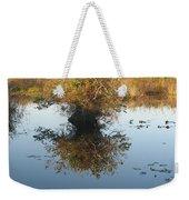 Pond Reflection Weekender Tote Bag