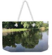 Pond With Ducks Weekender Tote Bag