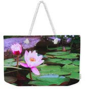 Pond With Water Lilly Flowers Weekender Tote Bag