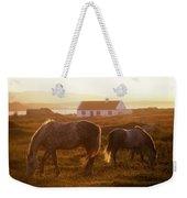 Ponies Grazing In A Field, Connemara Weekender Tote Bag