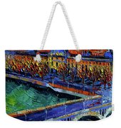 Pont Wilson And Hotel Dieu De Lyon By Mona Edulesco Weekender Tote Bag