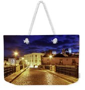 Ponte Romana At Blue Hour / Tavira, Portugal Weekender Tote Bag by Barry O Carroll