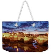 Ponte Romana At Dusk - Tavira, Portugal Weekender Tote Bag by Barry O Carroll