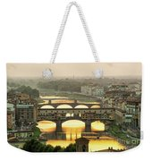 Ponte Vecchio Enlighten By The Warm Sunlight, Florence. Weekender Tote Bag