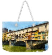 Ponte Vecchio Florence Italy Weekender Tote Bag