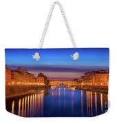 Ponte Vecchio Nigth Panorama Weekender Tote Bag