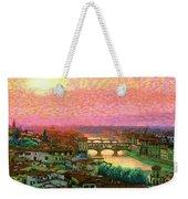 Ponte Vecchio Sunset Florence Weekender Tote Bag