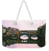Ponte Vecchio Sunset Photograph Weekender Tote Bag