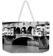 Ponte Vicchio Bridge In Florence Italy - C 1905 Weekender Tote Bag