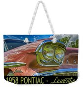 Pontiac 3 Weekender Tote Bag