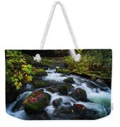 Ponytail Falls With Autumn Foliage Weekender Tote Bag