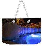 Pool Balls At Night Weekender Tote Bag by Shane Bechler