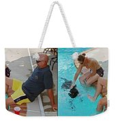 Poolside - Gently Cross Your Eyes And Focus On The Middle Image Weekender Tote Bag