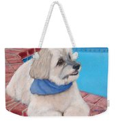 Poolside Puppy Weekender Tote Bag