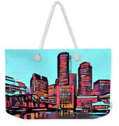 Pop Art Boston Skyline Weekender Tote Bag