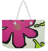 Pop Art Pansy Weekender Tote Bag