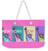 Pop Art Statue Of Liberty - New York New York - Panoramic Weekender Tote Bag