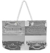 Pop Art Typewriter Collage Black And White Weekender Tote Bag