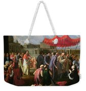Pope Clement Xi In A Procession In St. Peter's Square In Rome Weekender Tote Bag