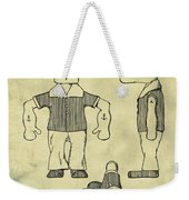 Popeye Doll Patent 1932 In Weathered Weekender Tote Bag