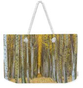 Poplar Tree Farm In Boardman Oregon In Fall Closeup Weekender Tote Bag