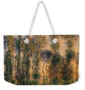 Poplars At Giverny - Sunrise Weekender Tote Bag
