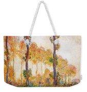 Poplars, Autumn Weekender Tote Bag