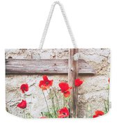 Poppies Against Wall Weekender Tote Bag