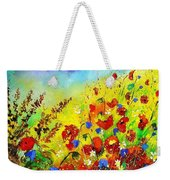 Poppies And Blue Bells Weekender Tote Bag