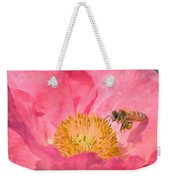 Poppies And Bumble Bee Weekender Tote Bag
