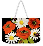 Poppies And Camomiles, Oil Painting Weekender Tote Bag