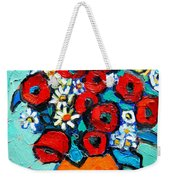 Poppies And Daisies Bouquet Weekender Tote Bag