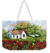 Poppies And Laundry Weekender Tote Bag