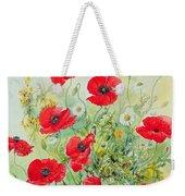 Poppies And Mayweed Weekender Tote Bag