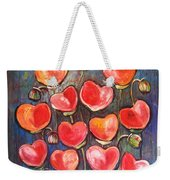 Poppies Are Hearts Of Love We Can Give Away Weekender Tote Bag