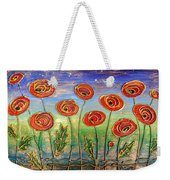 Poppies At Night Weekender Tote Bag