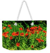 Poppies Flowerbed Weekender Tote Bag