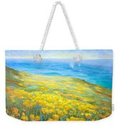 Poppies Greeting Whales Weekender Tote Bag