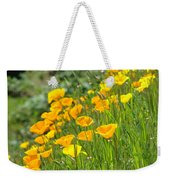 Poppies Hillside Meadow Landscape 19 Poppy Flowers Art Prints Baslee Troutman Weekender Tote Bag