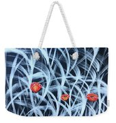 Poppies In The Grass Weekender Tote Bag