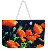 Poppies In The Light Weekender Tote Bag