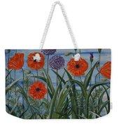Poppies, Iris, Giant Alium Weekender Tote Bag