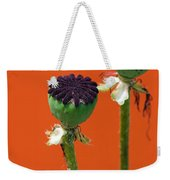 Poppies On Orange Weekender Tote Bag