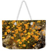 Poppies On The Rocks Weekender Tote Bag