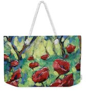 Poppies Through The Forest Weekender Tote Bag