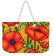 Poppies Under The Tuscan Sun Weekender Tote Bag