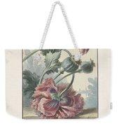 Poppies, Willem Van Leen, 1804 Weekender Tote Bag