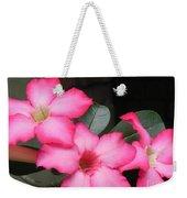 Poppin Pink Flowers Weekender Tote Bag