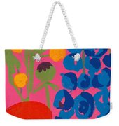Poppy And Delphinium Weekender Tote Bag